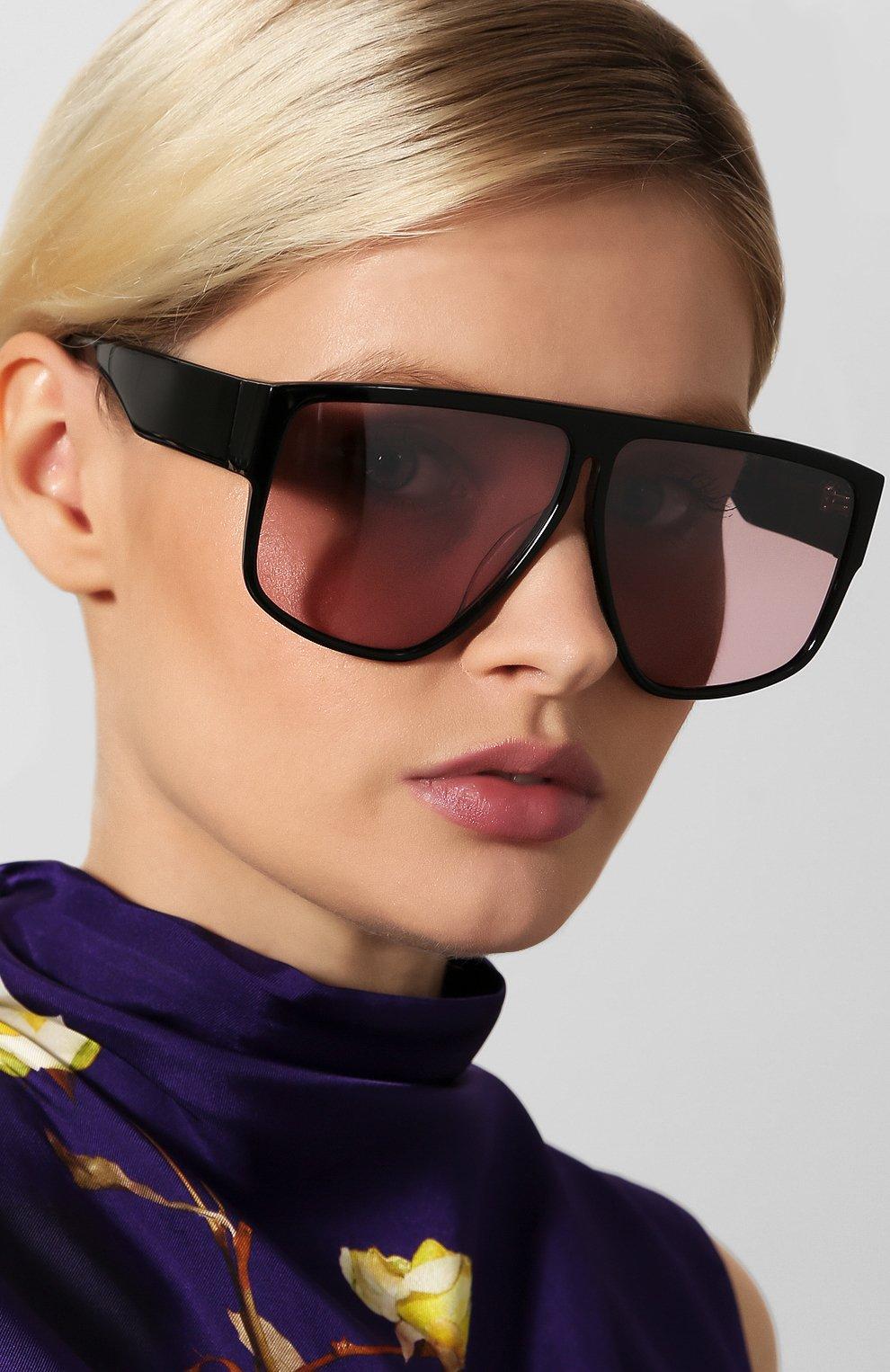 Женские солнцезащитные очки SPEKTRE темно-розового цвета, арт. LAURENT 01BFT | Фото 2 (Тип очков: С/з; Статус проверки: Проверено, Проверена категория; Очки форма: Маска, D-форма; Оптика Гендер: оптика-женское)
