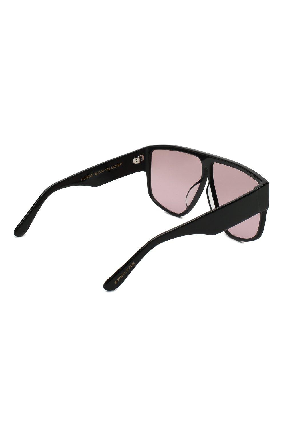 Женские солнцезащитные очки SPEKTRE темно-розового цвета, арт. LAURENT 01BFT | Фото 4 (Тип очков: С/з; Статус проверки: Проверено, Проверена категория; Очки форма: Маска, D-форма; Оптика Гендер: оптика-женское)