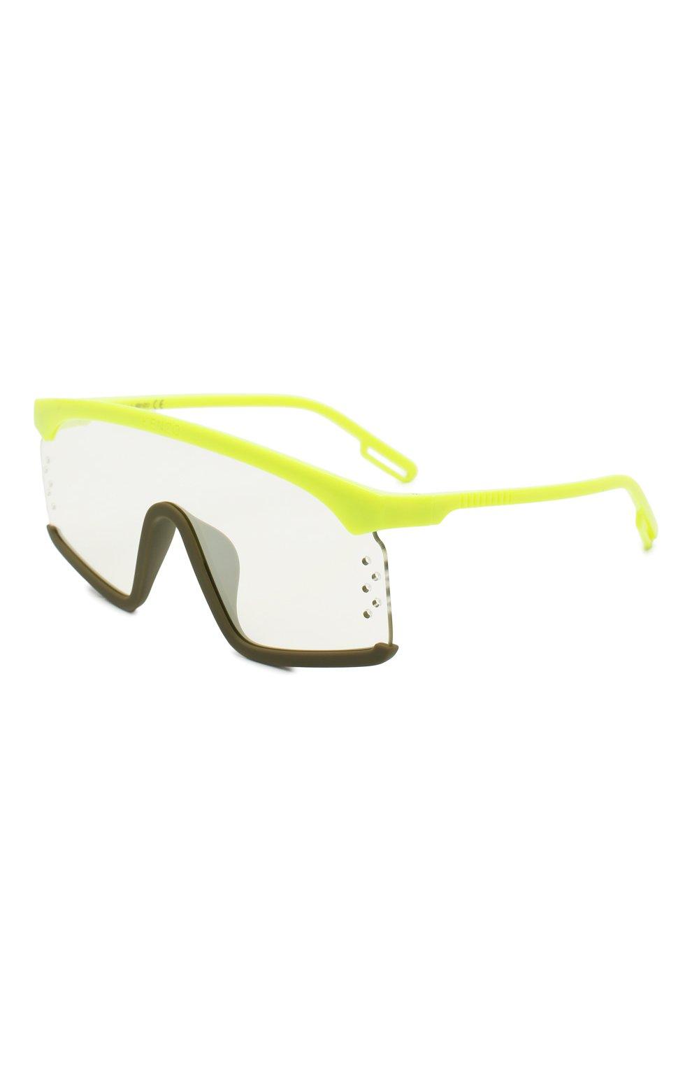 Женские солнцезащитные очки KENZO желтого цвета, арт. KZ40010U 41C | Фото 1