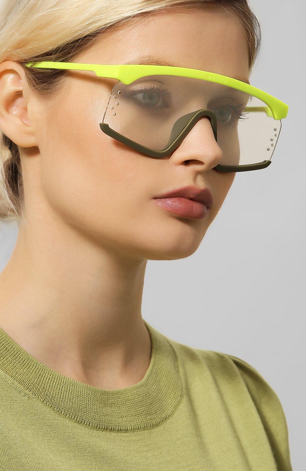 Женские солнцезащитные очки KENZO желтого цвета, арт. KZ40010U 41C | Фото 2