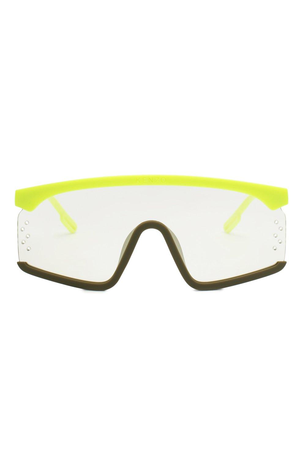 Женские солнцезащитные очки KENZO желтого цвета, арт. KZ40010U 41C | Фото 3
