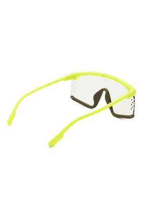 Женские солнцезащитные очки KENZO желтого цвета, арт. KZ40010U 41C | Фото 4