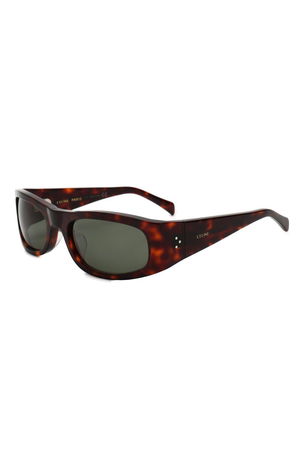 Женские солнцезащитные очки CELINE EYEWEAR коричневого цвета, арт. CL40085I 52N | Фото 1