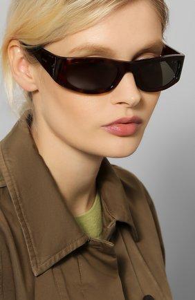 Женские солнцезащитные очки CELINE EYEWEAR коричневого цвета, арт. CL40085I 52N | Фото 2