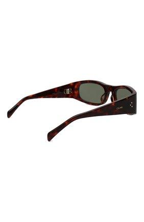 Женские солнцезащитные очки CELINE EYEWEAR коричневого цвета, арт. CL40085I 52N | Фото 4