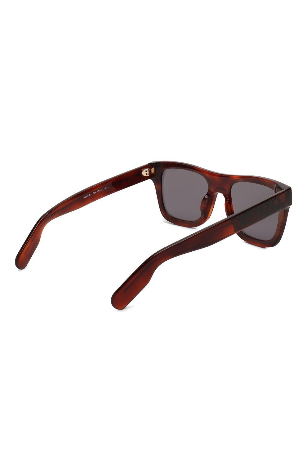 Женские солнцезащитные очки KENZO коричневого цвета, арт. KZ40018U 53A | Фото 3