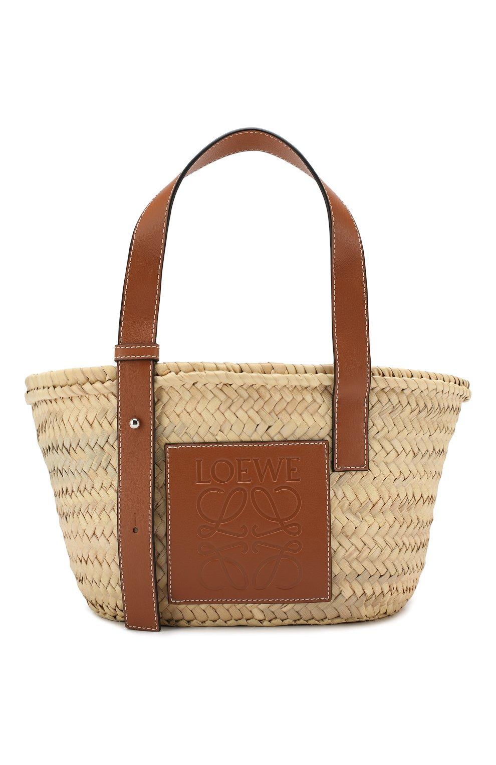 Женская сумка basket LOEWE бежевого цвета, арт. 327.02.S93   Фото 1