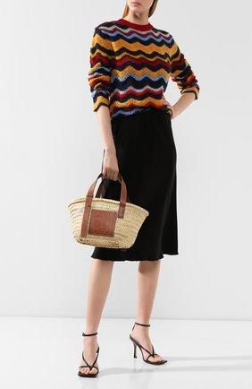 Женская сумка basket LOEWE бежевого цвета, арт. 327.02.S93   Фото 2