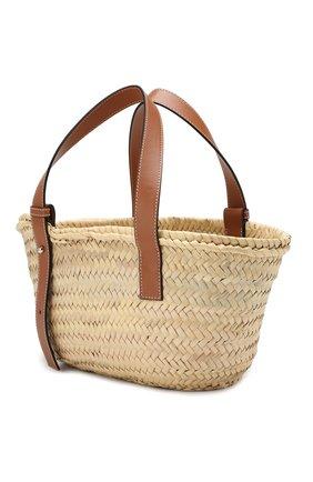 Женская сумка basket LOEWE бежевого цвета, арт. 327.02.S93   Фото 3