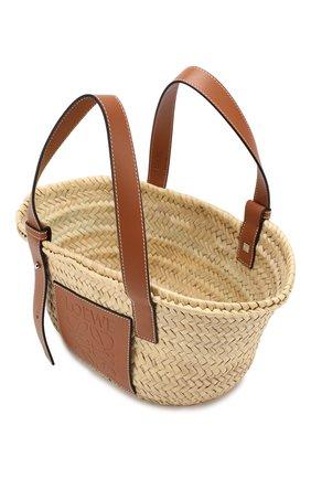 Женская сумка basket LOEWE бежевого цвета, арт. 327.02.S93   Фото 4