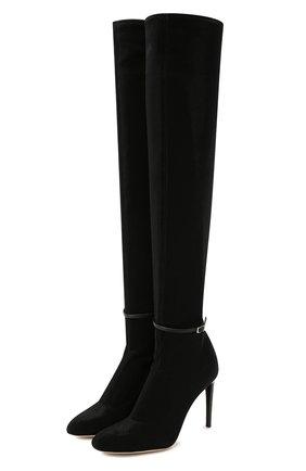 Женские текстильные ботфорты GIUSEPPE ZANOTTI DESIGN черного цвета, арт. I980000/001 | Фото 1