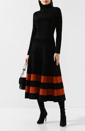 Женские текстильные ботфорты GIUSEPPE ZANOTTI DESIGN черного цвета, арт. I980000/001 | Фото 2