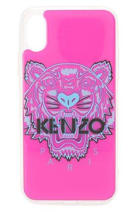 Мужской чехол для iphone x/xs KENZO розового цвета, арт. F96C0KIFXTGR | Фото 1