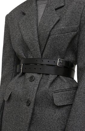 Женский кожаный ремень ALEXANDER MCQUEEN черного цвета, арт. 594188/1BR0I | Фото 2 (Статус проверки: Проверена категория)