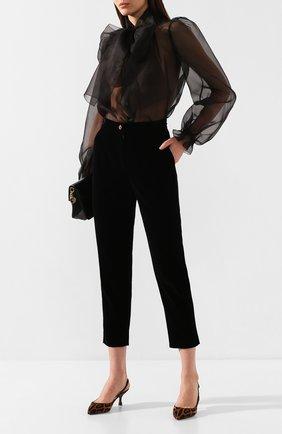 Женская кожаные туфли lori DOLCE & GABBANA коричневого цвета, арт. CG0304/AZ417 | Фото 2