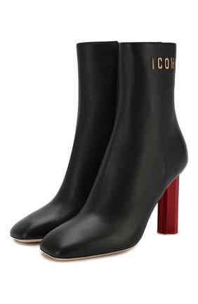 Женские кожаные ботильоны canadiana  DSQUARED2 черного цвета, арт. ABW0075 01500001 | Фото 1