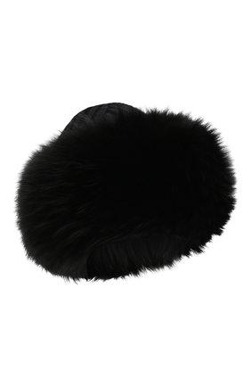 Женский кашемировая шапка с мехом лисы DOLCE & GABBANA черного цвета, арт. FX553T/JAWQV | Фото 1
