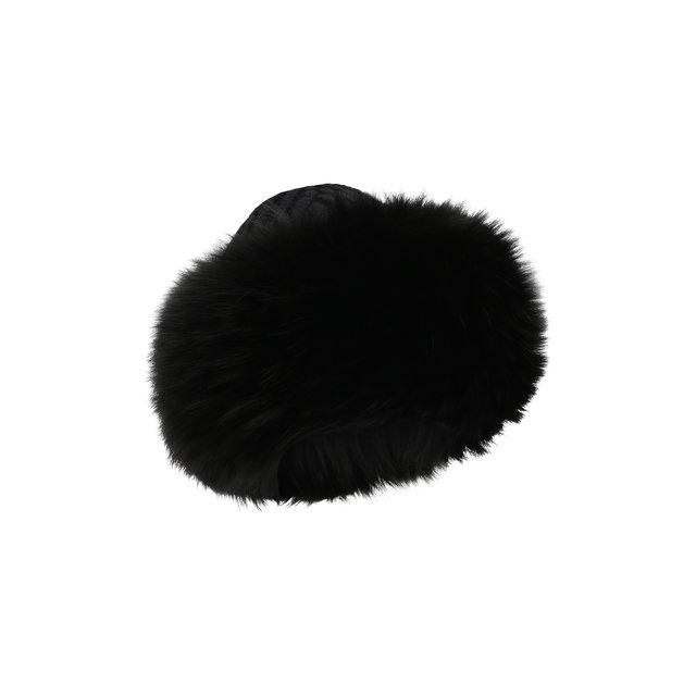 Кашемировая шапка с мехом лисы Dolce & Gabbana