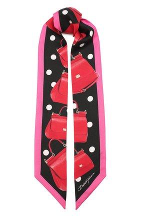 Шелковый шарф-бандо | Фото №1