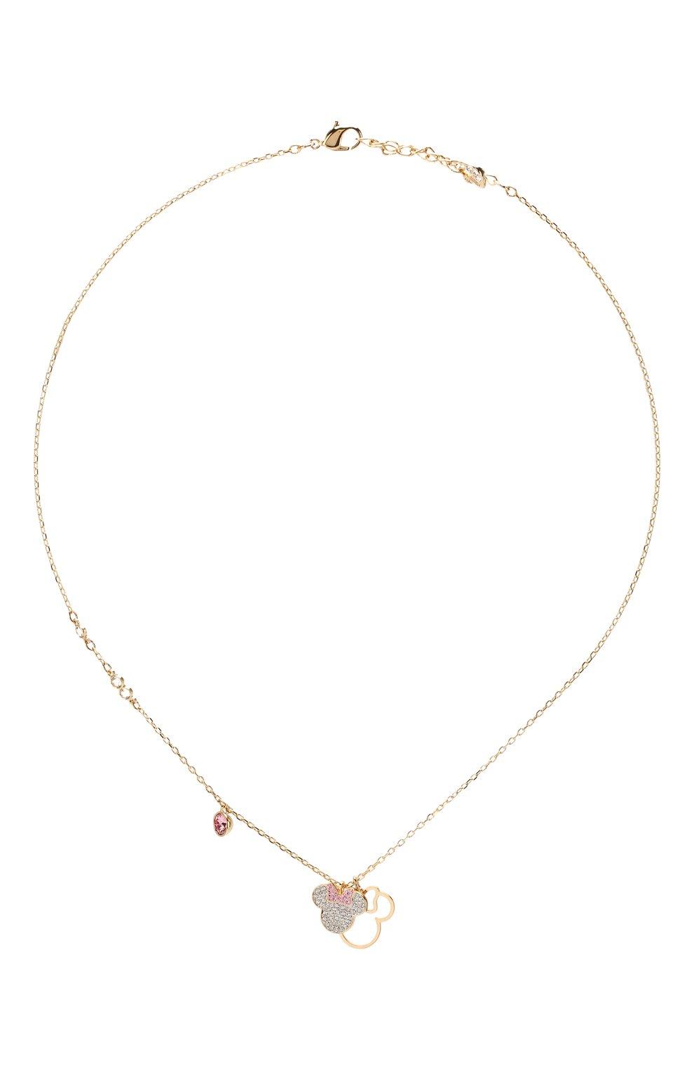 Женская кулон mickey & minnie SWAROVSKI золотого цвета, арт. 5515433   Фото 1