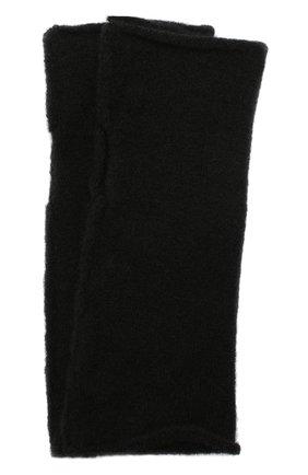 Мужские шерстяные митенки ISABEL BENENATO черного цвета, арт. UK84F19   Фото 1