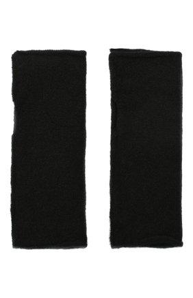 Мужские шерстяные митенки ISABEL BENENATO черного цвета, арт. UK84F19   Фото 2