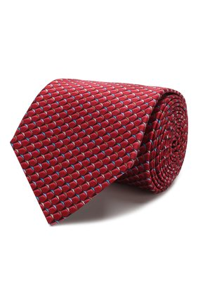 Мужской комплект из галстука и платка LANVIN бордового цвета, арт. 4212/TIE SET   Фото 1
