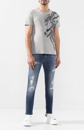 Мужские джинсы DOLCE & GABBANA синего цвета, арт. GY07CZ/G8BF1   Фото 2