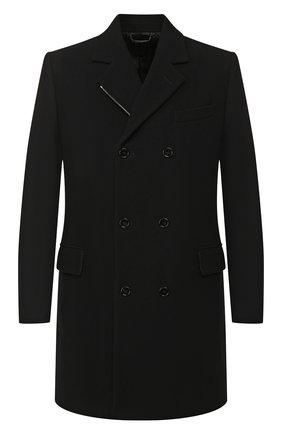 Мужской шерстяное пальто DOLCE & GABBANA черного цвета, арт. G008GT/HUMDQ | Фото 1