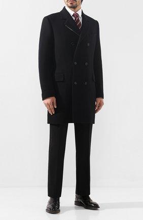 Мужской шерстяное пальто DOLCE & GABBANA черного цвета, арт. G008GT/HUMDQ | Фото 2