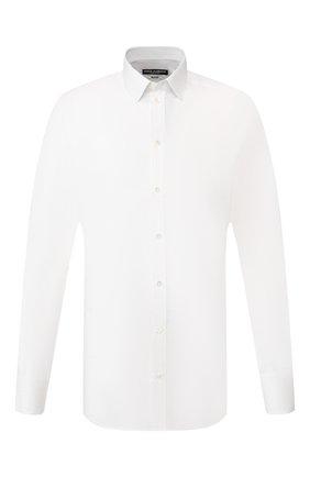 Мужская хлопковая сорочка DOLCE & GABBANA белого цвета, арт. G5EJ1T/FJ5F1 | Фото 1