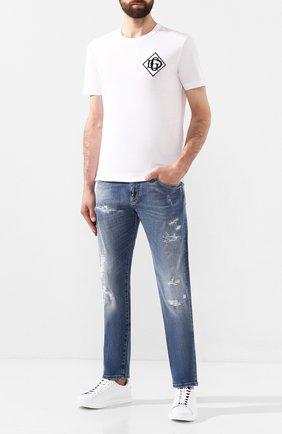Мужские джинсы DOLCE & GABBANA синего цвета, арт. GY07CD/G8BF1   Фото 2