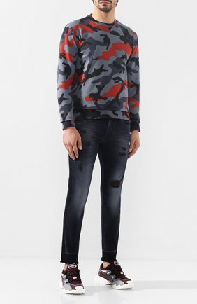Мужские джинсы DOLCE & GABBANA темно-синего цвета, арт. GYC4LD/G8BD0   Фото 2