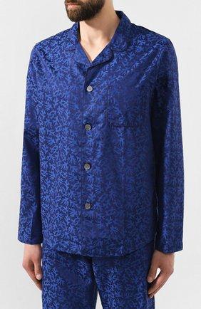 Мужская хлопковая пижама DEREK ROSE темно-синего цвета, арт. 5065-PARI016 | Фото 2