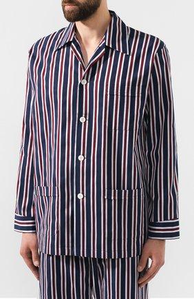 Мужская хлопковая пижама DEREK ROSE темно-синего цвета, арт. 5000-R0YA214 | Фото 2