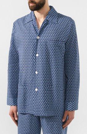 Мужская хлопковая пижама DEREK ROSE темно-синего цвета, арт. 5000-LEDB026 | Фото 2