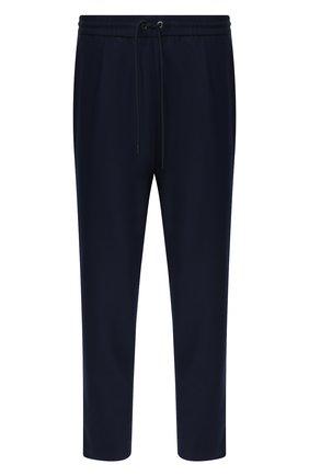 Мужской шерстяные брюки MONCLER темно-синего цвета, арт. E2-091-11474-00-54A4L | Фото 1
