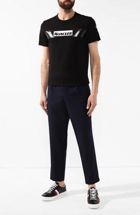 Мужской шерстяные брюки MONCLER темно-синего цвета, арт. E2-091-11474-00-54A4L | Фото 2