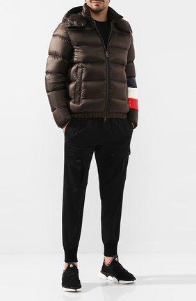 Мужская пуховая куртка willm MONCLER хаки цвета, арт. E2-091-41355-85-C0104 | Фото 2