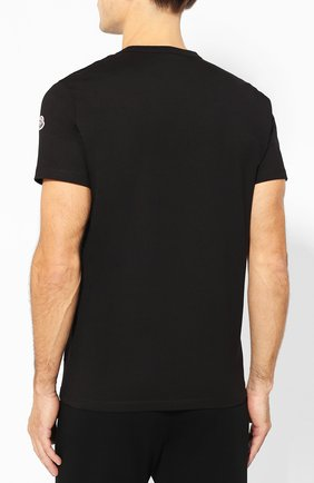 Мужская хлопковая футболка MONCLER черного цвета, арт. E2-091-80484-50-8390T | Фото 4