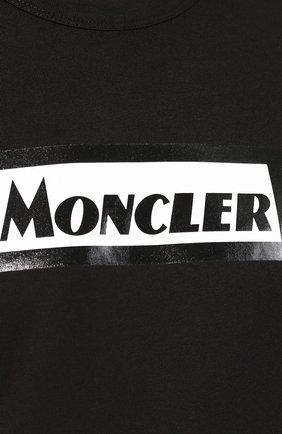 Мужская хлопковая футболка MONCLER черного цвета, арт. E2-091-80484-50-8390T | Фото 5