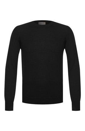 Мужской шерстяной джемпер MONCLER черного цвета, арт. E2-091-90468-00-A9227 | Фото 1