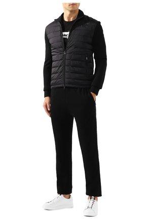 Мужская комбинированный кардиган MONCLER черного цвета, арт. E2-091-94127-00-94666 | Фото 2