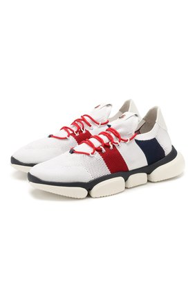 Мужские текстильные кроссовки bubble MONCLER белого цвета, арт. E2-09A-10362-00-01A6H | Фото 1