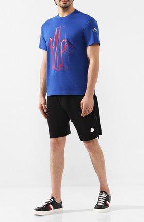 Мужские кожаные кеды new monaco MONCLER черного цвета, арт. E2-09A-10376-00-01A9A | Фото 2