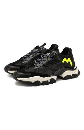 Мужские кожаные кроссовки leave no trace MONCLER черного цвета, арт. E2-09A-10389-00-02S0Y | Фото 1