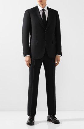 Мужской шерстяной костюм-тройка ERMENEGILDO ZEGNA черного цвета, арт. 616516/327B25 | Фото 1