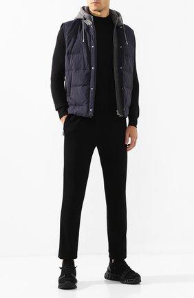 Мужской шерстяные брюки Z ZEGNA черного цвета, арт. VT475/ZZTP60 | Фото 2