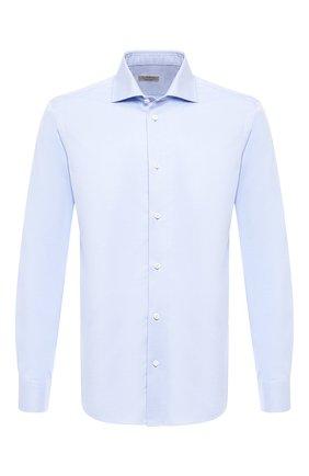 Мужская хлопковая сорочка Z ZEGNA голубого цвета, арт. VT241/ZZC01 | Фото 1