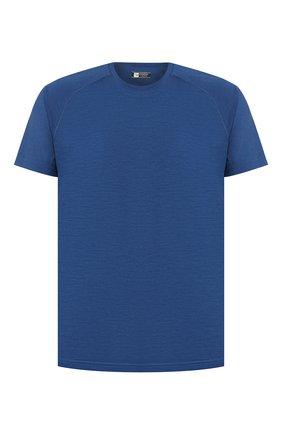 Мужская шерстяная футболка Z ZEGNA синего цвета, арт. VT390/ZZT653   Фото 1